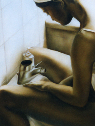 Giulia - Bidet - Oil on canvas - 70x100 - 2003